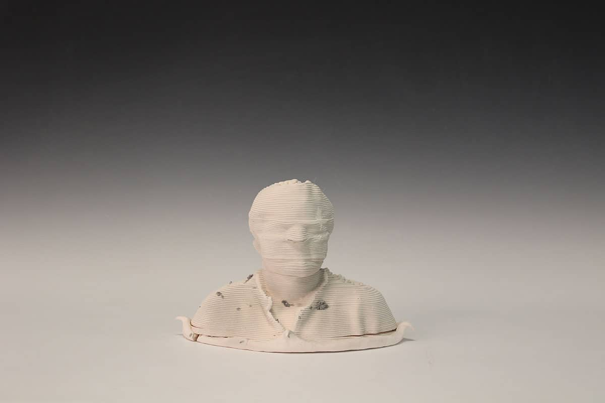 3d printed ceramic bust