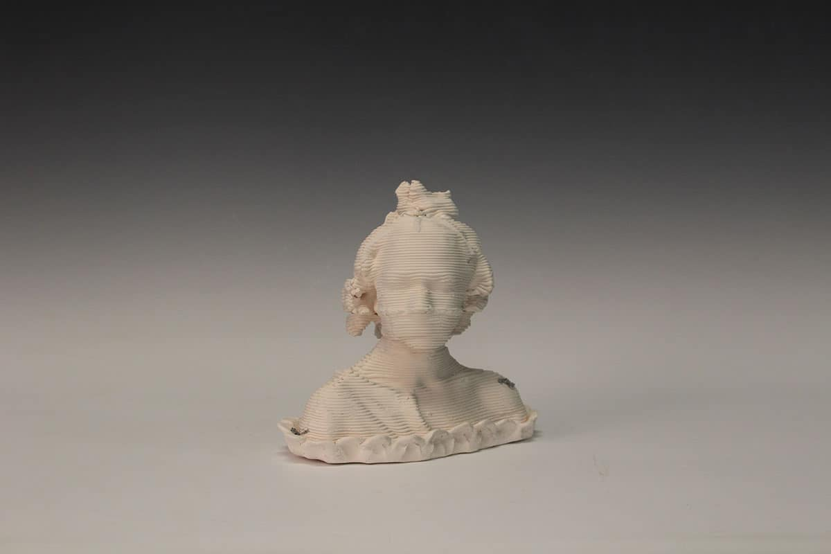 ceramic 3d print of bust