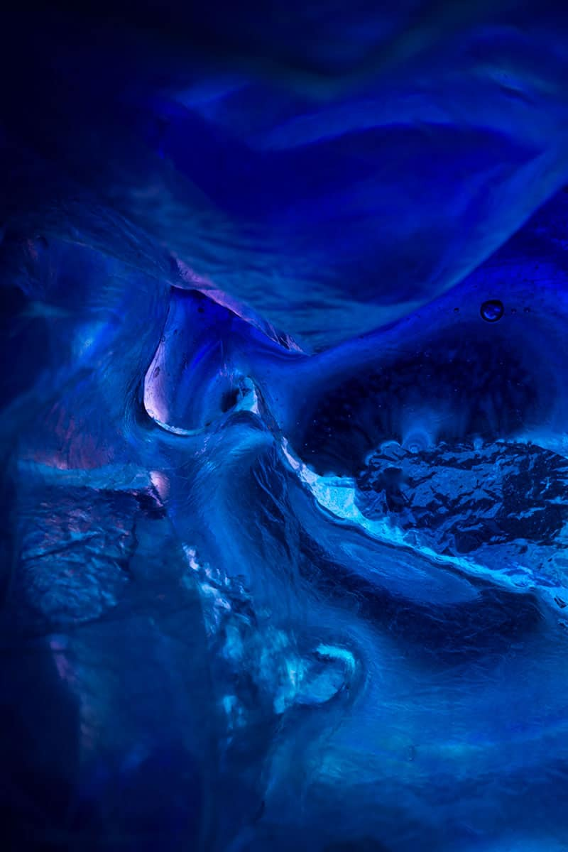 abstract blue photograph