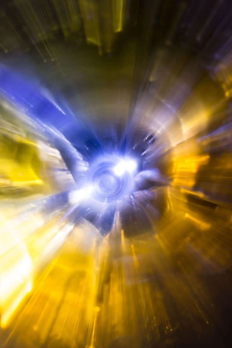 abstract yellow and blue photograph
