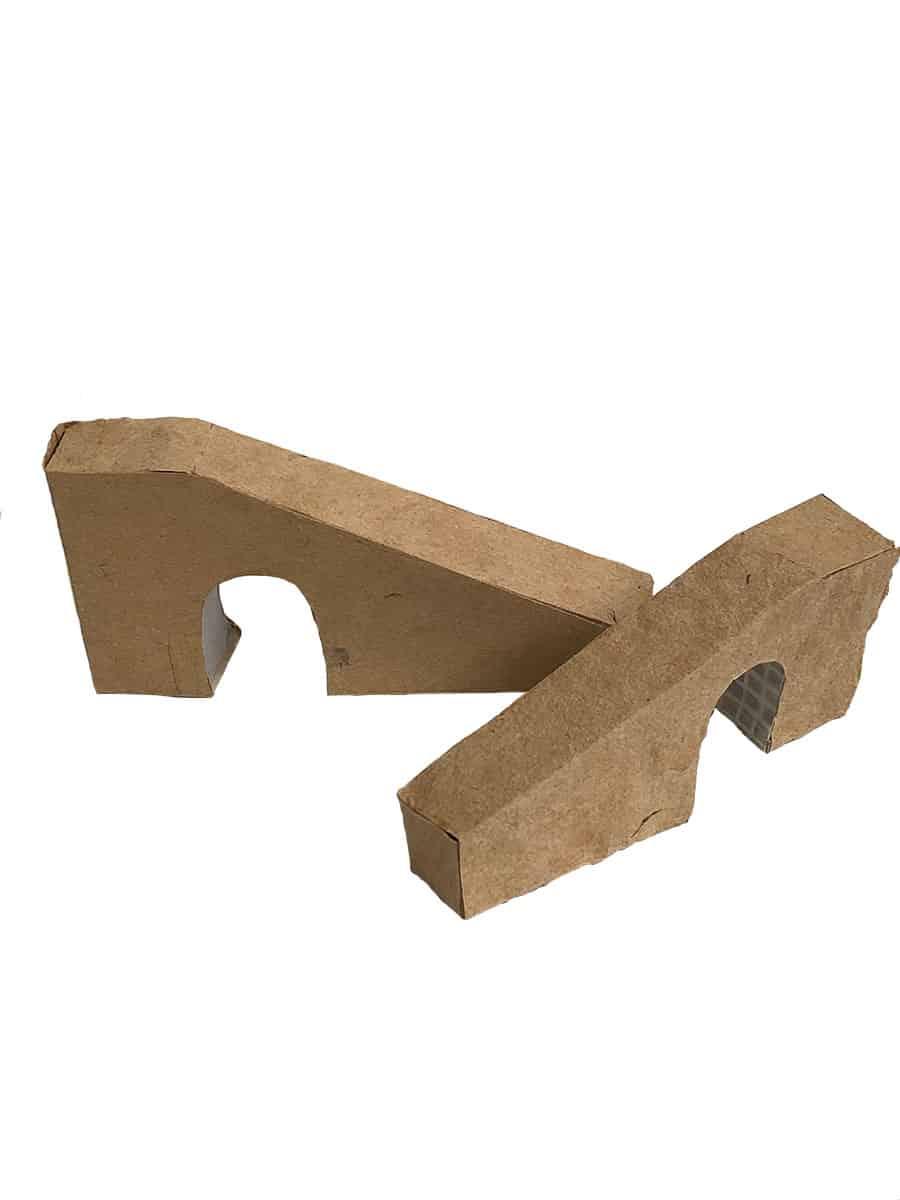 two cardboard ramp models